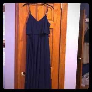 Navy Floor length formal gown